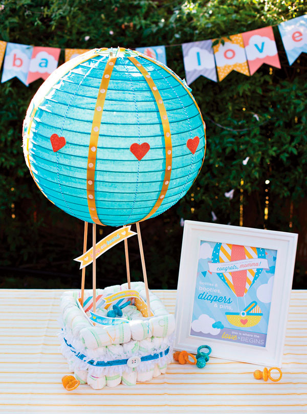 Bolo de fralda balão