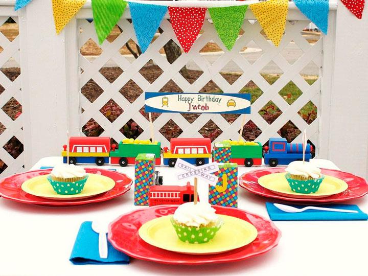 Decoração de aniversário infantil de menino