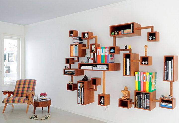 Decoração nichos para livros