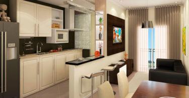 Dicas de decoração de sala pequena com cozinha americana
