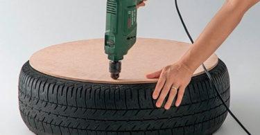 Artesanato com pneus
