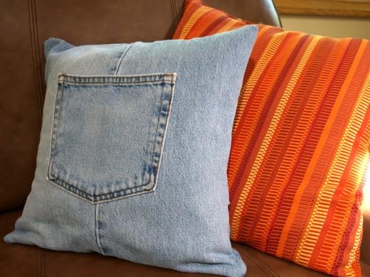 Almofada de calça jeans