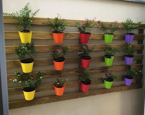 Jardim vertical de paletes
