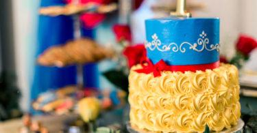 Festa branca de neve bolo