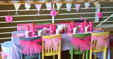 Decoração com tule para festa infantil