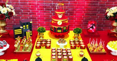 Decoração de festa The Flash