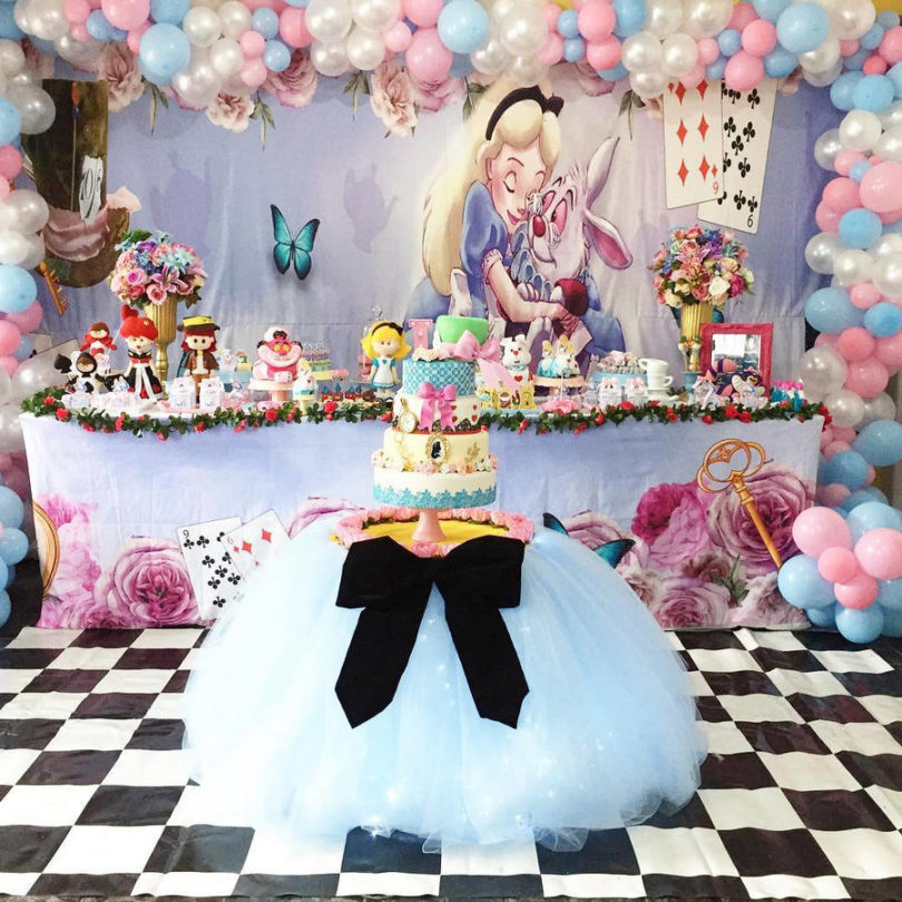 Decoração de festa Alice no País das Maravilhas