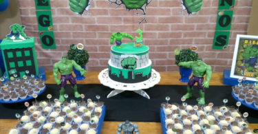 Decoração de festa Hulk