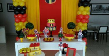 Decoração festa Os Incríveis