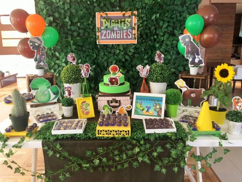 Decoração de festa Plants Vs Zombies