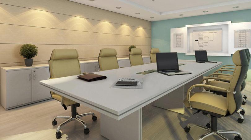 Decoração para sala de reunião