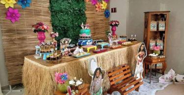 Decoração de festa Moana