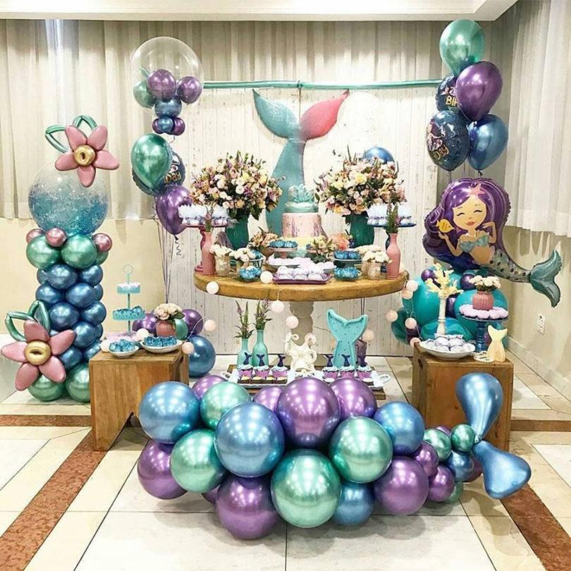 Decoração de festa Pequena Sereia