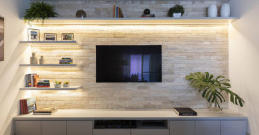 Decoração com fitas de LED
