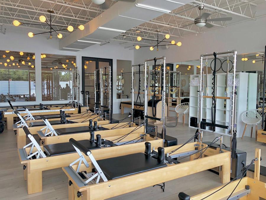 Decoração para estúdio de Pilates