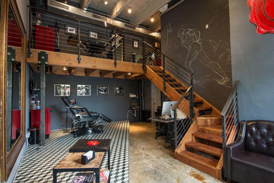 Decoração para estúdio de tatuagem