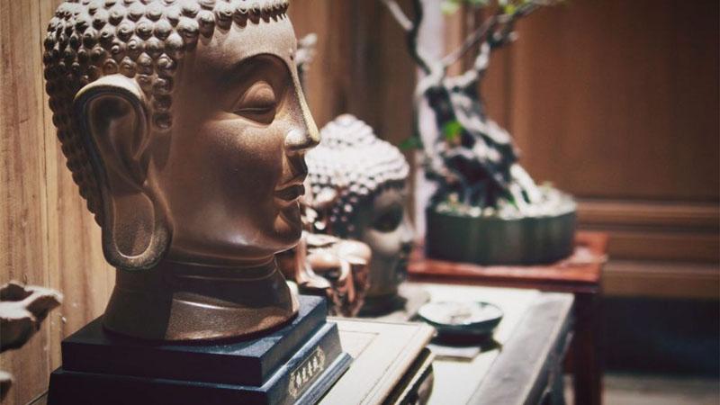 Decoração com esculturas
