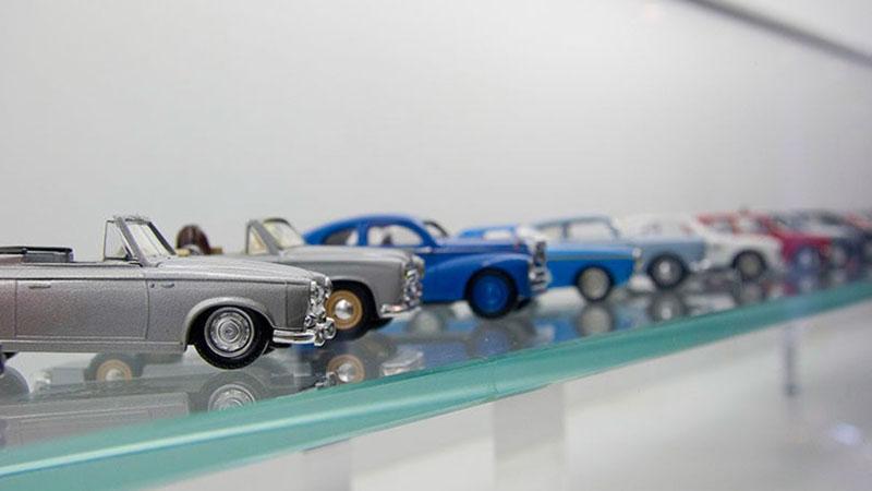 Decoração com miniaturas de carro
