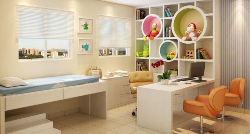 Decoração para consultório de pediatria